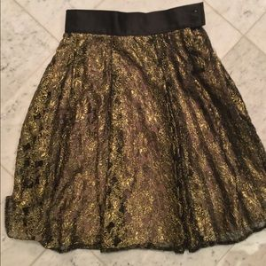 Gorgeous black and gold A-line custom made skirt